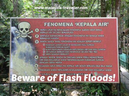 Flash Flood warning sign.