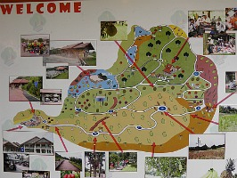 There is a map near the entrance to Taman Warisan.