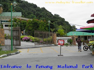 The entrance to the Penang National Park