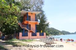 Baywatch Lifeguard tower at Teluk Batik Beach