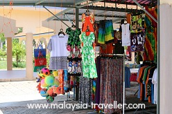Shopping at Teluk Batik Beach