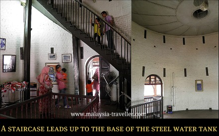 The interior of Teluk Intan Leaning Tower