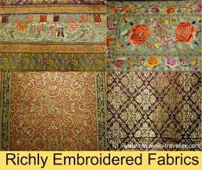 Elaborate Embroidered Fabrics, Textile Museum