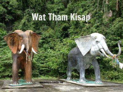 elephant statues at Wat Tham Kisap