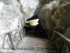 Steps leading to one of the cave exits