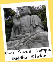 Stone Buddha statue at Chin Swee Temple