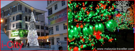 Xmas tree and lights, i-City, Shah Alam