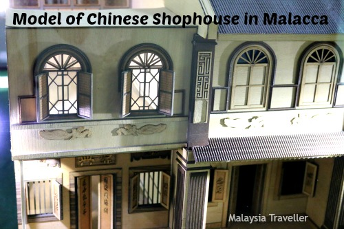Model of Chinese Shop House in Malacca