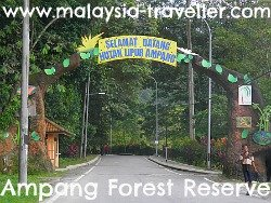 Entrance to Ampang Forest Reserve