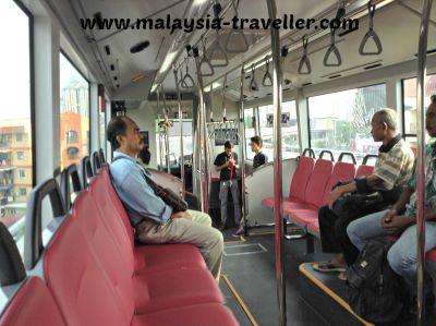 Interior of BRT bus.