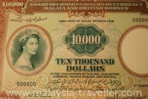Banknote collection at Bank Negara Museum