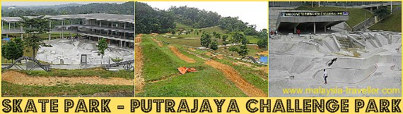 Skate Park and Thrill Park at Putrajaya Challenge Park