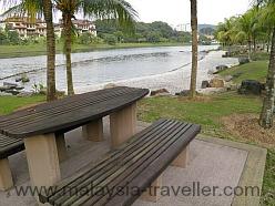 Pebble beach at Taman Wawasan