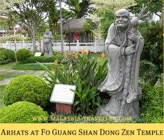 Arhats at Fo Guang Shan Dong Zen Temple