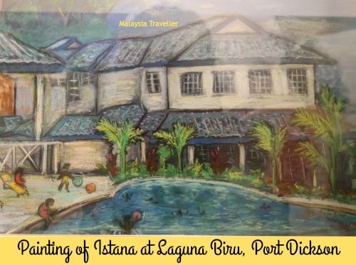 Painting of Istana Blue Lagoon by Tuanku Ja'afar