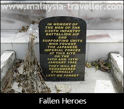 Plaque honouring Australian casualties