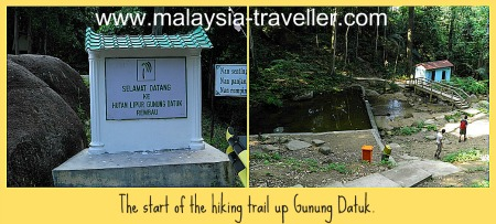 The starting point for climbing Gunung Datuk.