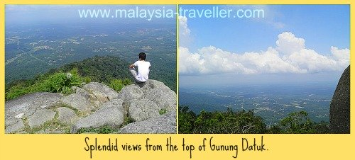 View from the summit of Gunung Datuk.