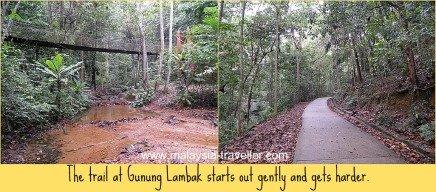 The start of the Gunung Lambak trail.