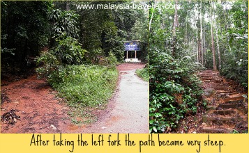 The climb up Gunung Lambak gets steeper from here.