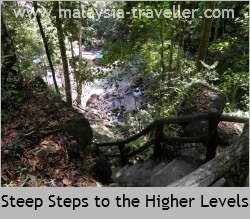 Even if you walk to the highest falls it will take only 30 minutes or so.