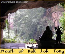 Buddha overlooking the view at Kek Lok Tong
