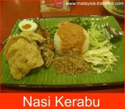 Nasi Kerabu, breakfast in Kota Bharu