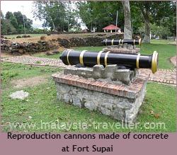 Reproduction cannons at Kuala Linggi Fort