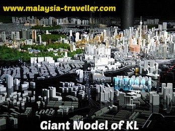 Large Scale Model of KL at Kuala Lumpur City Gallery