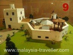 Model of Fort Margherita, Kuching