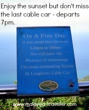 Langkawi Cable Car Operating Hours