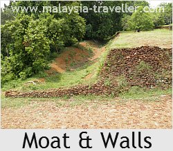 Moat at Fort Lukut