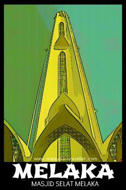 Minaret of Melaka Straits Mosque