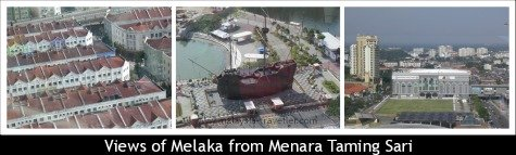 Views of Melaka from Menara Taming Sari