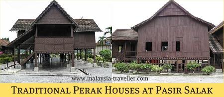 Traditional Perak Houses at Pasir Salak Historical Complex