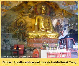 The 40 foot high golden Buddha at Perak Tong