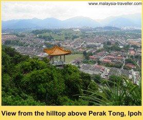 View from the peak above Perak Tong, Ipoh