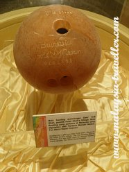 The first bowling ball to be used in Malaysia
