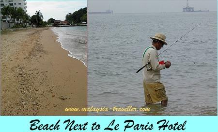 Beach at Le Paris hotel, Port Dickson
