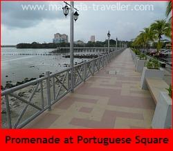 Promenade at Portuguese Settlement Melaka