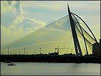 One of Putrajaya's unique bridges.