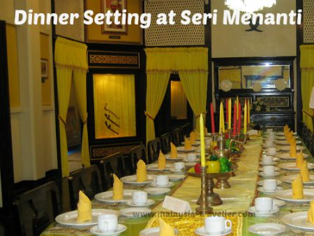 Dinner in the royal household at Seri Menanti Royal Museum