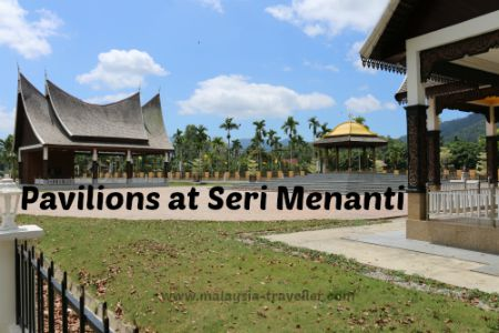 These pavilions are located in front of the Royal Museum at Seri Menanati