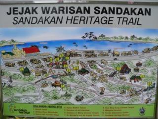 Map of Sandakan Heritage Trail