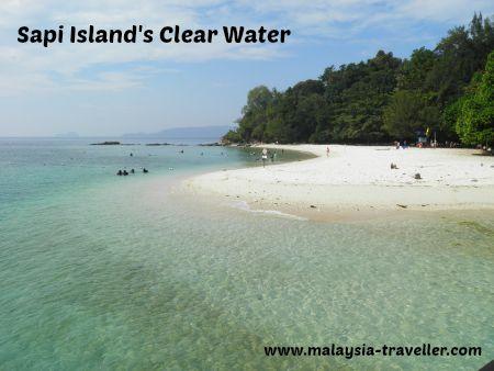 Crystal clear water at Sapi Island