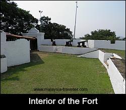 Interior of St. John's Fort, Melaka