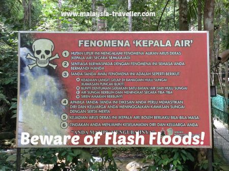 Flash Flood warning sign.