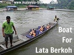 Boat for Lata Berkoh Excursion, Taman Negara
