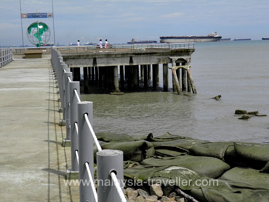 Tanjung Piai overlooking the busy shipping lane
