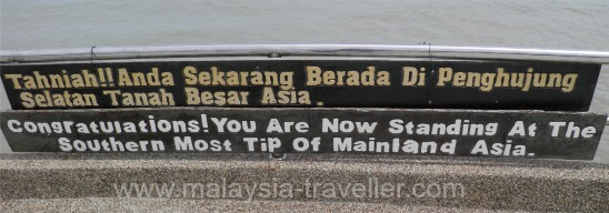 Sign at Tanjung Piai
